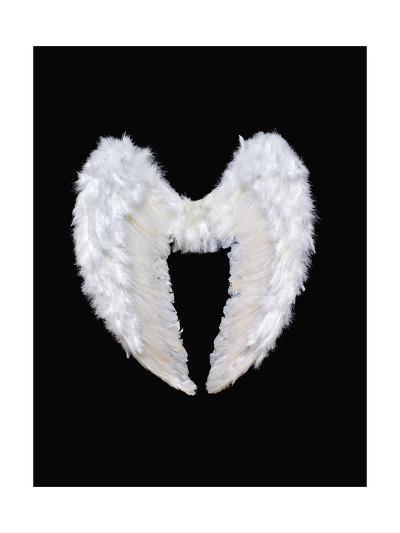 White Angel Wings-Black_blood-Art Print