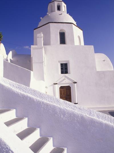 White Architecture, Santorini, Greece-Bill Bachmann-Photographic Print