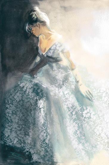 White Aubretia-Sharon Pinsker-Art Print