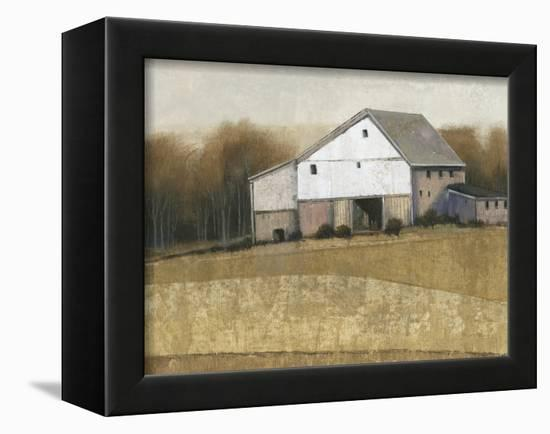 White Barn View I-Tim O'toole-Framed Stretched Canvas