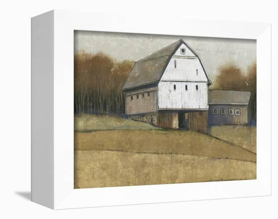 White Barn View II-Tim O'toole-Framed Stretched Canvas