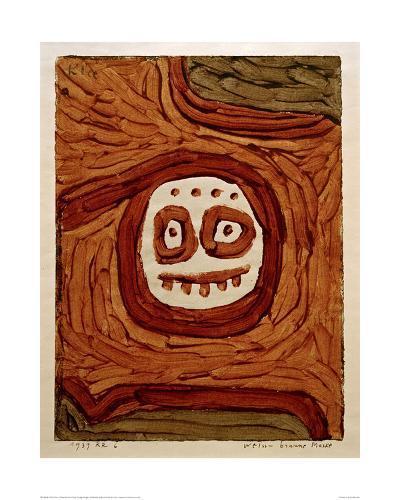 White-Brown Mask-Paul Klee-Giclee Print