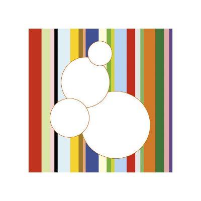 White Bubble on Stripe (detail)-Dan Bleier-Giclee Print