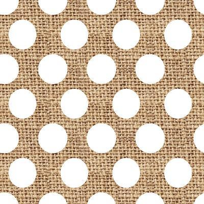 White Burlap Dots-Joanne Paynter Design-Giclee Print
