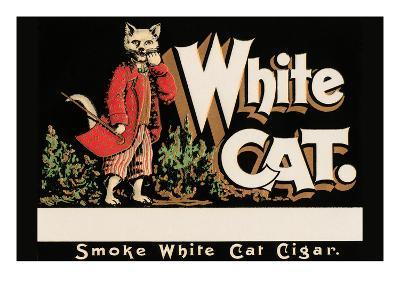 White Cat Brand Cigars--Art Print