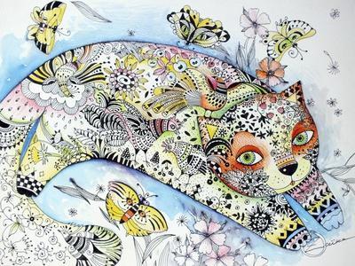 White Cat-Oxana Zaika-Giclee Print