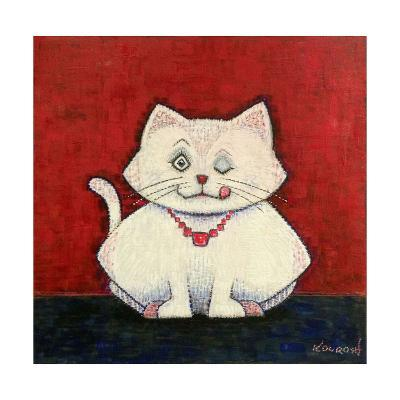 White Cat-Kourosh-Art Print