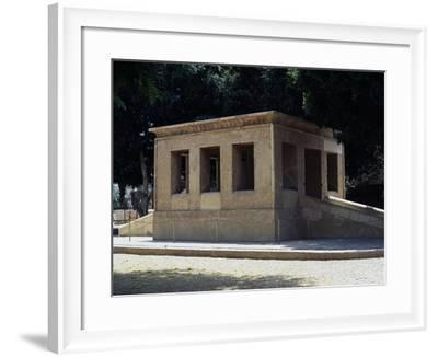 White Chapel, Building Dating Back to Reign of Sesostris I, from the Karnak Temple Complex--Framed Giclee Print