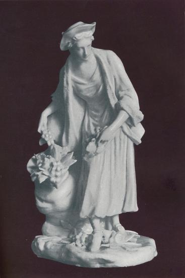 White Chelsea Porcelain gardener's companion figure, c1770-Unknown-Giclee Print
