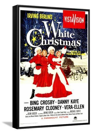 White Christmas--Framed Canvas Print