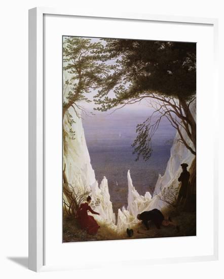 White Cliffs of Ruegen-Caspar David Friedrich-Framed Giclee Print