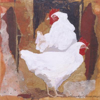 White Cockerels-Anuk Naumann-Giclee Print