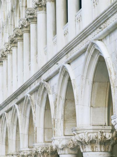 White Columns and Arches of Ducale Palace, St. Mark's Square, Venice, Veneto, Italy-Lee Frost-Photographic Print