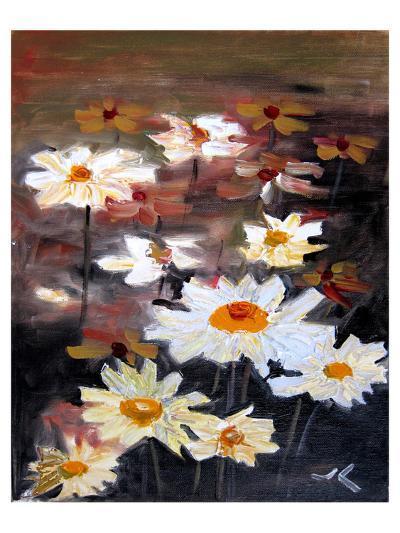 White Daisies--Art Print