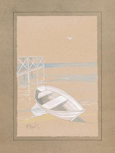 White Dinghy-Paul Brent-Art Print
