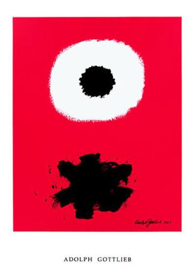 White Disc Red Ground, c.1967-Adolph Gottlieb-Art Print