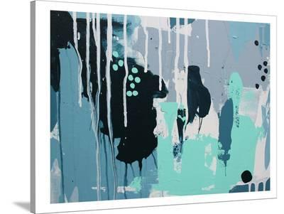White Drips-Deb McNaughton-Stretched Canvas Print