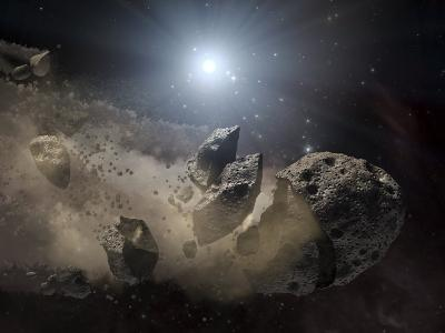 White Dwarf Star Surrounded by a Disintegrating Asteroid-Stocktrek Images-Photographic Print
