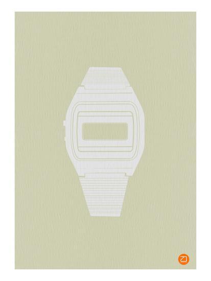 White Electronic Watch-NaxArt-Art Print