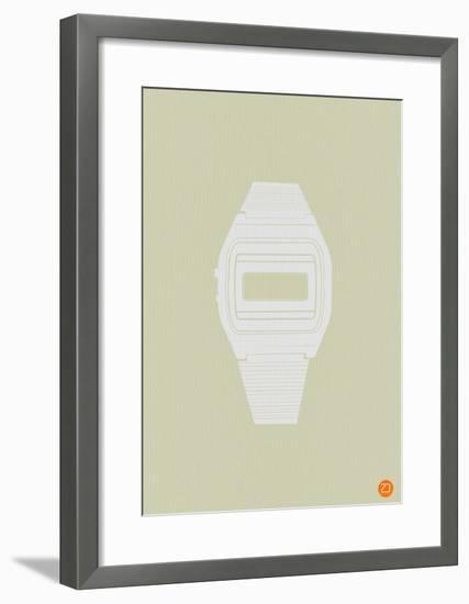 White Electronic Watch-NaxArt-Framed Art Print
