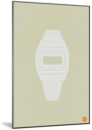 White Electronic Watch-NaxArt-Mounted Art Print
