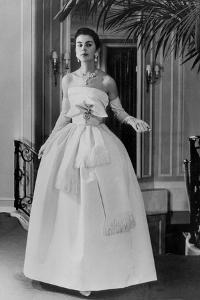 White Evening Dress by Dior, February 1958
