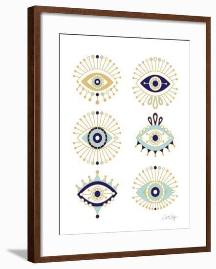 White Evil Eyes-Cat Coquillette-Framed Giclee Print