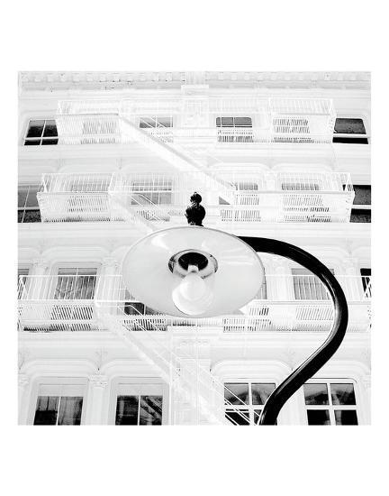 White Facade (B&W)-Erin Clark-Art Print