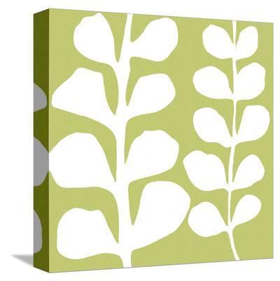 White Fern on Green-Denise Duplock-Stretched Canvas Print