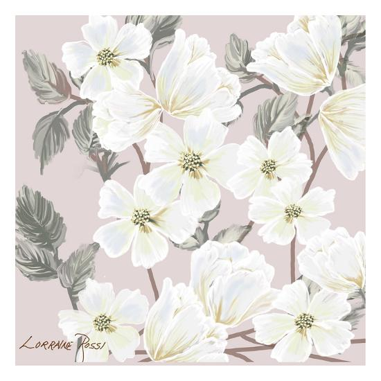 White Flower on Nude 2-Lorraine Rossi-Art Print