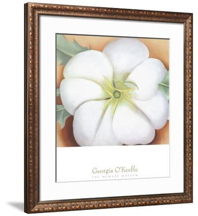 White Flower on Red Earth, No. 1, c.1946-Georgia O'Keeffe-Framed Art Print
