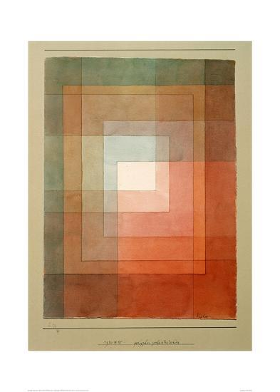 White Framed Polyphonically-Paul Klee-Giclee Print