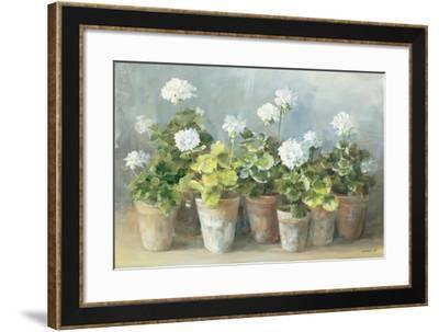 White Geraniums-Danhui Nai-Framed Premium Giclee Print
