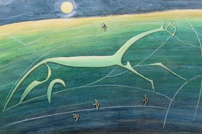 White Horse Hill, Uffington, 1992-Evangeline Dickson-Giclee Print