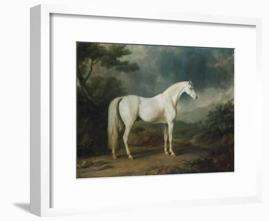 White Horse in a Wooded Landscape, 1791-Sawrey Gilpin-Framed Giclee Print