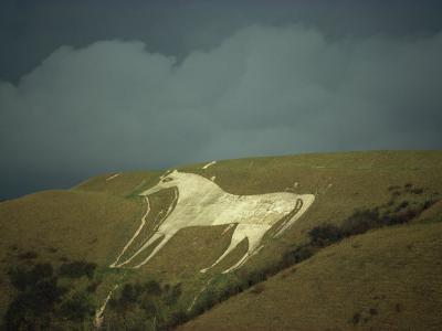 White Horse Near Westbury, Wiltshire, England, United Kingdom, Europe-David Beatty-Photographic Print