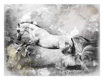 White Horse-GraphINC-Art Print
