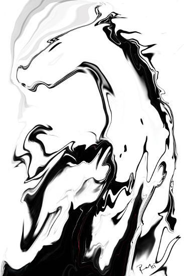 White Horse-Rabi Khan-Art Print