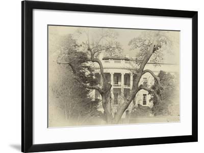 White House Sepia-Lillis Werder-Framed Premium Photographic Print