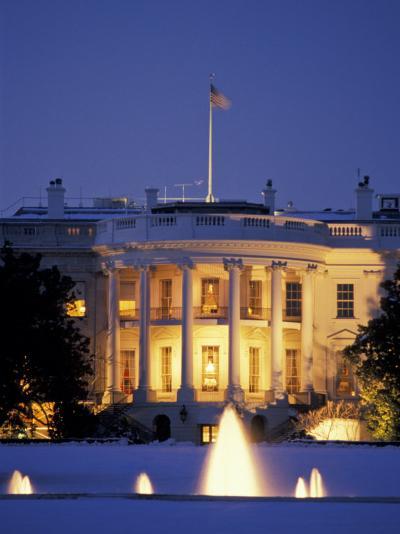 White House South Portico at Dusk-Richard Nowitz-Photographic Print