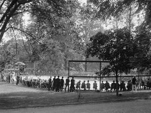 White House Tennis Court During a Match on May 10, 1922
