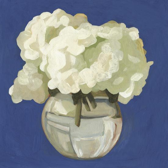 White Hydrangeas I-Emma Scarvey-Art Print