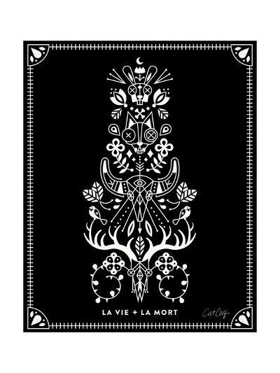 White La Mort-Cat Coquillette-Giclee Print