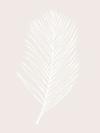 White Leaf-Design Fabrikken-Art Print