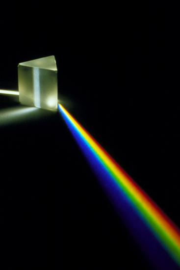 White Light Passing Through a Prism-David Parker-Photographic Print