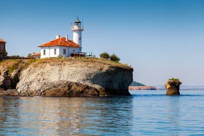 White Lighthouse Tower on St. Anastasia Island- eugenesergeev-Photographic Print