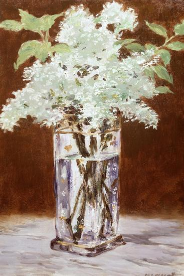 White Lilac in a Crystal Vase, 1882-Edouard Manet-Giclee Print