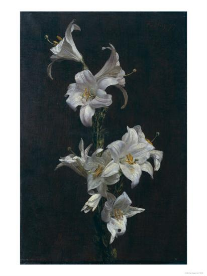 White Lilies, c.1883-Henri Fantin-Latour-Giclee Print