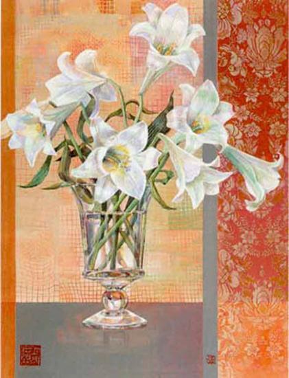 White Lilies-Maya Nishiyama-Art Print