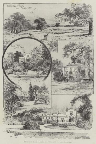 White Lodge, Richmond, Where Our Future King Was Born, 23 June 1894-Joseph Holland Tringham-Giclee Print